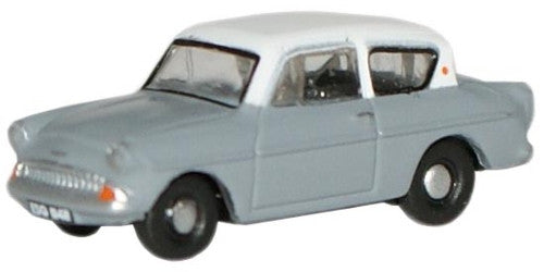 Oxford Diecast Grey/WhiteFord Anglia - 1:148 Scale