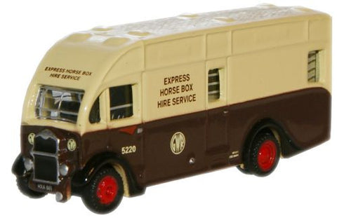 Oxford Diecast GWR Albion Horsebox - 1:148 Scale
