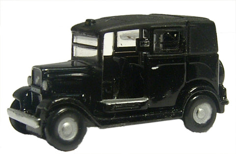 Oxford Diecast Black Austin Low Loader Taxi - 1:148 Scale