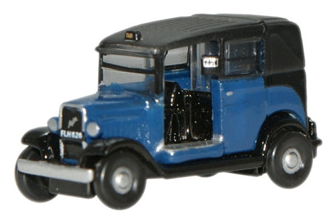 Oxford Diecast Blue Low Loader Taxi - 1:148 Scale