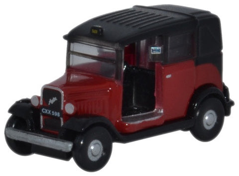 Oxford Diecast Austin Low Loader Taxi Burgundy - 1:148 Scale