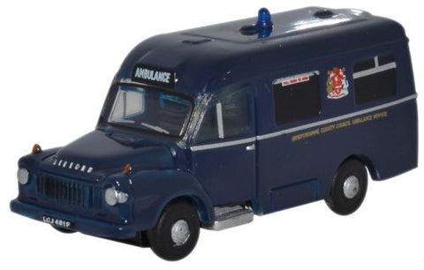 Oxford Diecast Bedford/Lomas Ambulance Hereford - 1:148 Scale