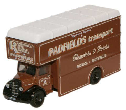 Oxford Diecast Padfields Transport Bedford Luton Van - 1:148 Scale