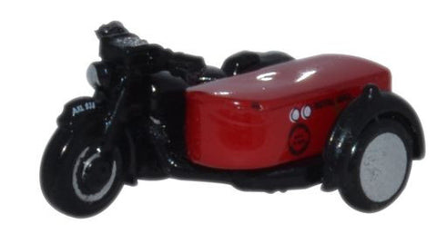 Oxford Diecast Motorbike and Sidecar Royal Mail - 1:148 Scale