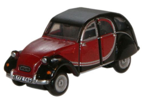 Oxford Diecast Charleston Maroon/Black Citroen 2CV - 1:148 Scale