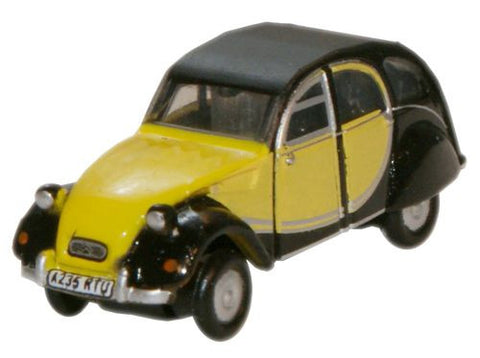 Oxford Diecast Charleston Yellow Black Citroen 2CV - 1:148 Scale