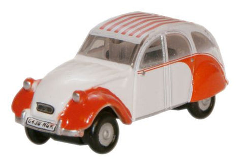 Oxford Diecast Dolly Red_White Citroen 2CV - 1:148 Scale