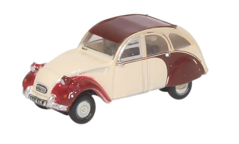 Oxford Diecast Citroen 2CV Plum/Custard