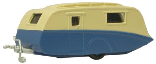 Oxford Diecast Blue/Cream Caravan - 1:148 Scale