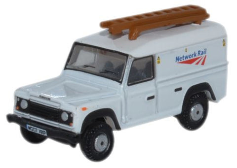 Oxford Diecast Land Rover Defender LWB Hard Top Network Rail - 1:148 S