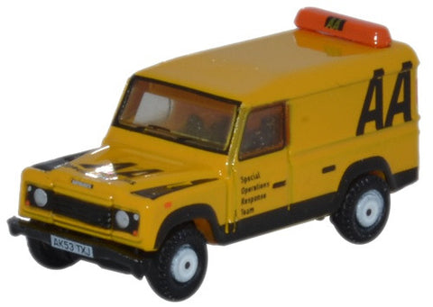 Oxford Diecast Land Rover Defender LWB Hard Top AA - 1:148 Scale