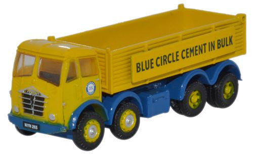 Oxford Diecast Foden FG Tipper Blue Circle Cement - 1:148 Scale