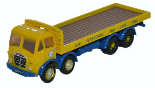 Oxford Diecast Foden FG8 Wheel Flatbed Blue Circle
