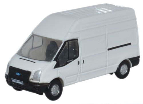 Oxford Diecast White Transit LWB High - 1:148 Scale