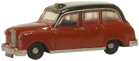 Oxford Diecast FX4 Taxi Maroon - 1:148 Scale