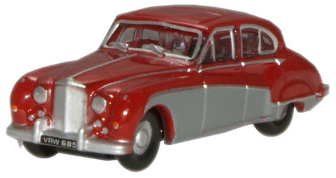 Oxford Diecast Claret/Mist Grey Jaguar MK8 - 1:148 Scale