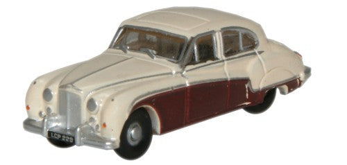 Oxford Diecast Cream/Imperial Maroon Jaguar MkIX - 1:148 Scale