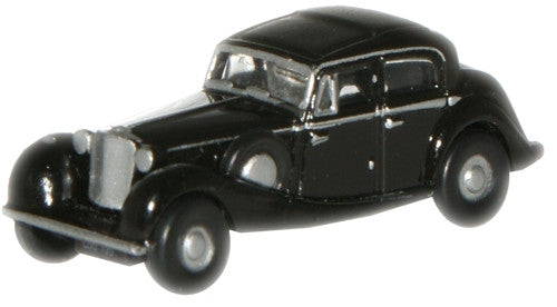 Oxford Diecast Black SS Jaguar  - 1:148 Scale