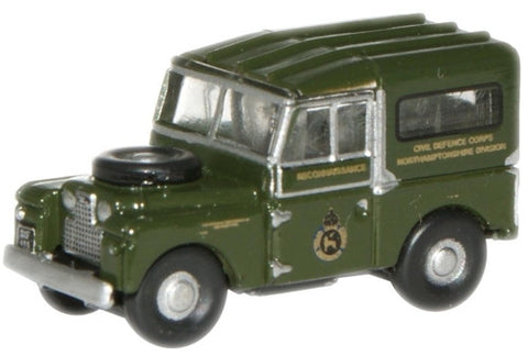 "Oxford Diecast Civil Defence Land Rover 88"" - 1:148 Scale"