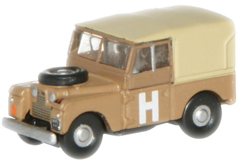 "Oxford Diecast Sand/Military Land Rover 88"" - 1:148 Scale"