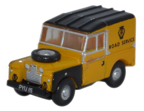 "Oxford Diecast Land Rover Series 1 88"" Hard Top AA - 1:148 Scale"