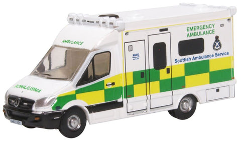 Oxford Diecast Mercedes Ambulance Scottish Ambulance Service