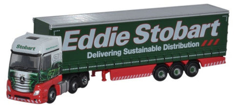Oxford Diecast Mercedes Actros Curtainside Eddie Stobart - 1:148 Scale