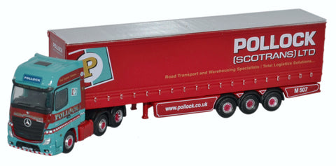 Oxford Diecast Mercedes Actros Curtainside Pollock