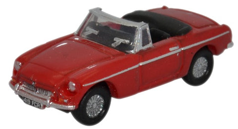 Oxford Diecast MGB Roadster Tartan Red