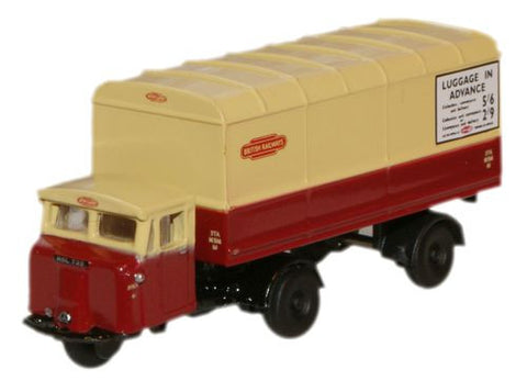 Oxford Diecast British Rail Scammell Mechanical Horse Van Trailer - 1: