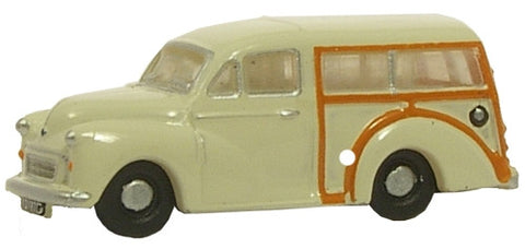Oxford Diecast Old English White Morris Traveller - 1:148 Scale