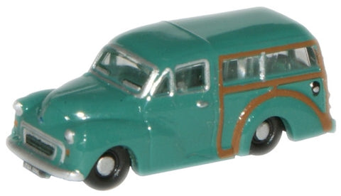 Oxford Diecast Aqua Morris Traveller - 1:148 Scale