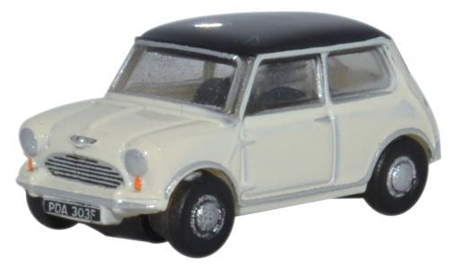 Oxford Diecast Mini Old English White and Black - 1:148 Scale