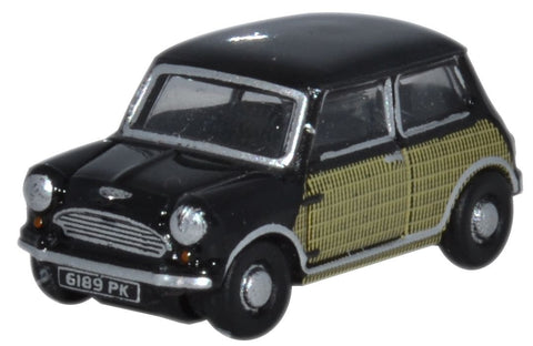 Oxford Diecast Mini  Black and Wicker - 1:148 Scale