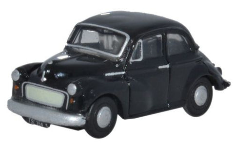 Oxford Diecast Morris Minor Black - 1:148 Scale