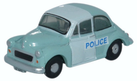 Oxford Diecast Morris Minor Saloon Police Panda
