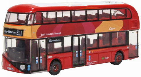 NNR008 1:148 Oxford Diecast New Routemaster East London Transit