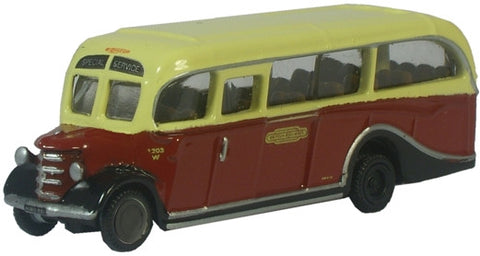 Oxford Diecast British Rail Bedford OB Coach - 1:148 Scale