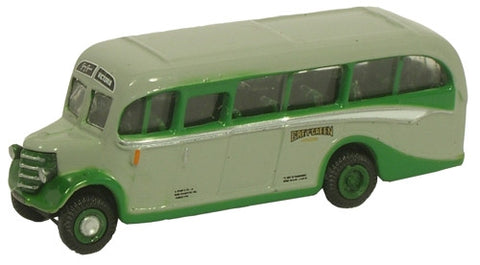 Oxford Diecast Bedford OB Coach Grey Green - 1:148 Scale
