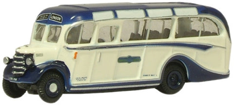 Oxford Diecast Royal Blue Bedford OB Coach - 1:148 Scale