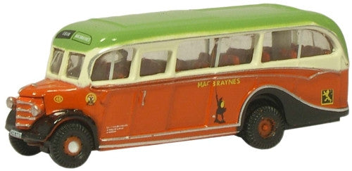 Oxford Diecast Macbraynes Bedford OB Coach - 1:148 Scale