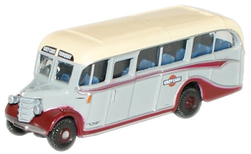 Oxford Diecast Grey Cars Bedford OB Coach - 1:148 Scale