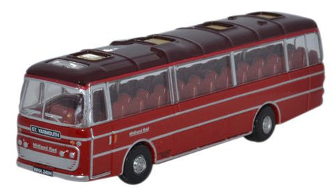Oxford Diecast Plaxton Panorama 1 Midland Red - 1:148 Scale