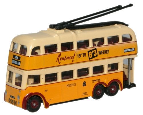 Oxford Diecast Newcastle  B. U. T. Trolleybus - 1:148 Scale