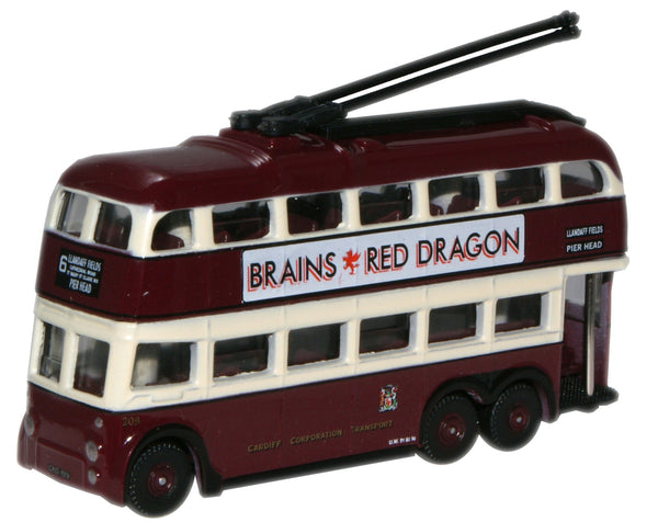 Oxford Diecast Cardiff BUT Trolleybus - 1:148 Scale