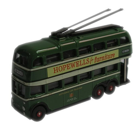 Oxford Diecast Nottingham Trolleybus - 1:148 Scale