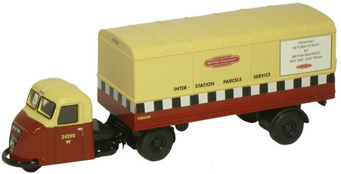 Oxford Diecast British Rail Scarab Van Trailer - 1:148 Scale