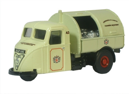 Oxford Diecast Corporation of London Scammell Dustcart - 1:148 Scale