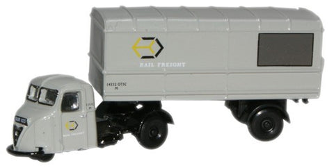 Oxford Diecast Railfreight Grey Scammell Scarab Van Trailer - 1:148 Sc