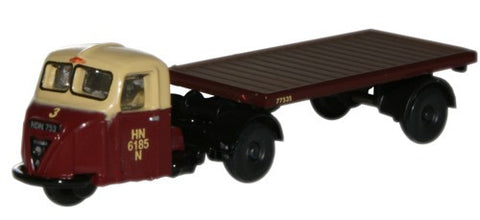 Oxford Diecast Scammell Scarab Flat Trailer British Rail - 1:148 Scale